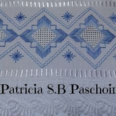 Patricia S. Hardanger Embroidery, Hand Embroidery Patterns, Ribbon Embroidery, Embroidery Stitches, Bordado Tipo Chicken Scratch, Bargello Needlepoint, Swedish Weaving, Drawn Thread, Straight Stitch