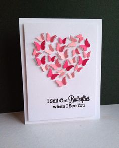 Valentine's Day Card - All essential products for this project can be found on Crafting.co.uk - for all your crafting needs. - Butterfly Heart