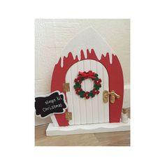 Elf door Beautiful magical door glitter snow by TheLittlehCompany