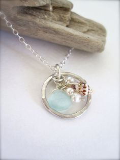 Eternity Hawaiian shell beach necklace  made in by Tidepools, $65.00