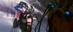 Future War Reporter by Benlo . Character Concept Art .