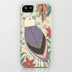 Bird and Autumn Leaves iPhone Case
