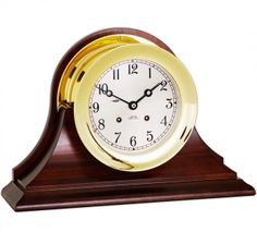 """SIR JACK'S - Chelsea 6"""" Ship's Bell Clock, Traditional Base,"""