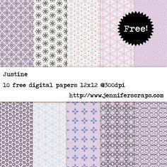 Justine - Free Digital Paper pack