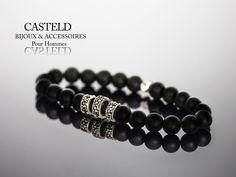 Un bracelet homme, style et élégance, un design raffiné, rester masculin, Le luxe pour homme,  LE BRACELET MALT ... #bijouxpourhomme #bracelet #tendance  http://www.casteld.com/bijoux-homme