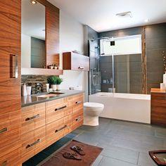 Best Bathroom Remodel Ideas on a Budget (Master & Guest Bathroom) Bathroom Floor Tiles, Bathroom Renos, Lavabo Design, Guest Bathroom Remodel, Steam Showers Bathroom, Bathroom Goals, Modular Homes, Amazing Bathrooms, Bathroom Accessories