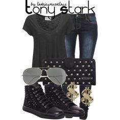 tony stark, created by marvel-ous on Polyvore