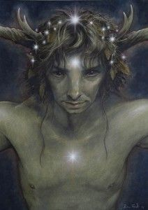 """""""Himself"""" by Brian Froud - The Faeries' Oracle - This was always my favorite card in the deck for some reason... not that I ever really used the thing."""