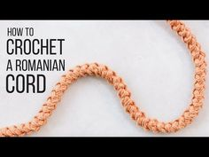 Knitting Patterns Pullover How To Crochet a Romanian Cord for STURDY Bag and Purse Straps – Easy! Modern Crochet Blanket, Modern Crochet Patterns, Crochet Cord, Single Crochet Stitch, Easy Crochet, Crochet Stitches, Diy Purse Strap, Make And Do Crew, Macrame Purse