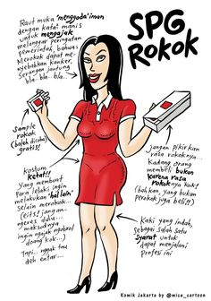 Mice Cartoon, Komik Jakarta - November 2014:  SPG Rokok
