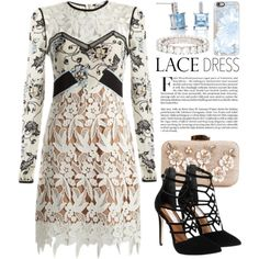 Lace Outfit 2495 by boxthoughts on Polyvore featuring self-portrait, Steve Madden, Belk & Co., Cartier and Casetify