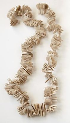 Kiff Slemmons, United States, Necklace - Bent Rounds, cotton, agave, handmade paper