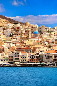Ermoupolis, Syros, Cyclades Islands, Greece Hope to see it soon Places Around The World, Oh The Places You'll Go, Places To Travel, Places To Visit, Around The Worlds, Santorini, Mykonos, Vacation Destinations, Dream Vacations
