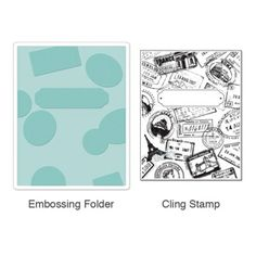 Sizzix Textured Impressions Embossing Folder w/Stamp - Postage & Frame Set £13.99
