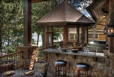 Fantastic outdoor kitchen and lake views.  Could it get any better?