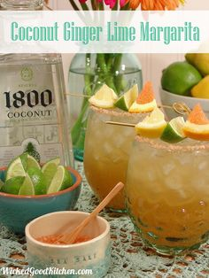Coconut Ginger Lime Margarita via @wickedgoodkitchen