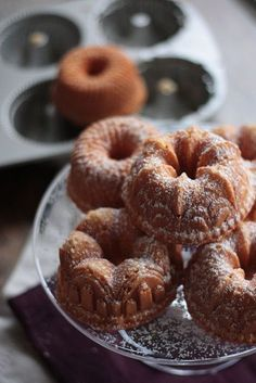 Brown Butter Mini Bundt Cakes buy these little bundt cake pans they have a bunch of different shapes of pans