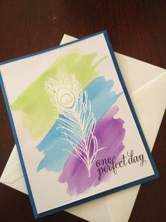 Watercolor card by Waters photography.