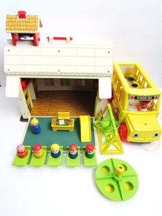 Fisher Price Little People Play Family School  by TimelessToyBox