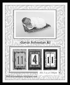 step by step tutorial on how to make these birth announcement art.