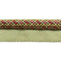 BC10002-42/14 Rose/Pink/Green - Fringe Brown Teal, Grey Yellow, Pink And Green, Upholstery Trim, Going Out Of Business, Red Gold, Art For Sale, Pink Roses, Cord