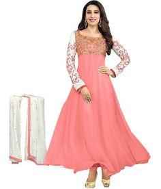 Pink Georgette Embroidery Anarkali Dress Anarkali Suits