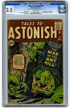 Tales to Astonish #27 CGC 2.5 1st Ant-Man Kirby Marvel Silver Age Comic Horror