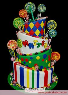 cakes for a rave party | ... Heap Happy Birthday Cakes Topsy Turvy Cakes Celebration Cakes Baked in