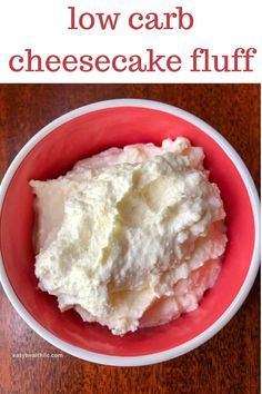 Low Carb Chicken Recipes, Healthy Low Carb Recipes, Low Carb Dinner Recipes, Pureed Food Recipes, Low Carb Desserts, Best Low Carb Snacks, Dessert Recipes, Ricotta Cheese Desserts, Ricotta Dessert