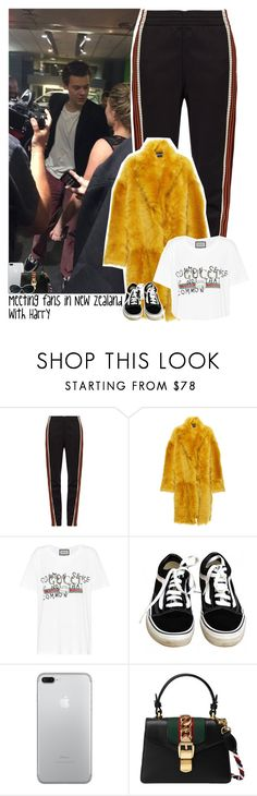 """Meeting fans in New Zealand with Harry"" by stylesxgucci ❤ liked on Polyvore featuring Wales Bonner, Rochas, Gucci, Vans, Yves Saint Laurent and harrystyles"