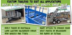 U beat Trailer Creating Single axle, Tandem & dual axle, Hydraulic tippers, Stock trailers,  lawn mower trailer, car Trailers and Custom trailers, Repairs & servicing, Flat Top Trailers. Call U Beaut Trailers today on 03-9708 2691 to discuss your custom trailer modifications and requirements. We have an experienced team of boiler makers and truck body builders with years of experience in building one-off designs to an outstanding level. Visit at http://ubeauttrailers.com.au/custon-trailers/
