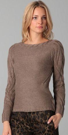 sweter z aranami
