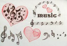 Love Music Rock attitudes, mini font and more - machine embroidery designs - quick stitch style - multiple sizes