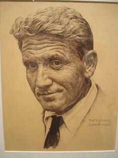 Spencer Tracy by Norman Rockwell.  For Ilse.