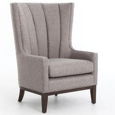 Braxton Culler Anniston Armchair Upholstery: Green and Blue Textured Plain, Finish: Harbor Blue - Wood
