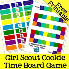 Girl Scout Cookie Time Game FREE Printable from DianaRambles.com @FreeStyleMama