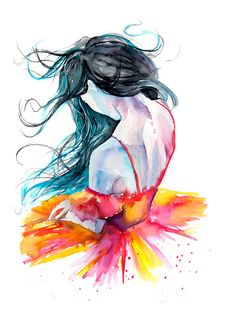 Ballerina Painting Watercolor Poster Dancer by WatercolorMary