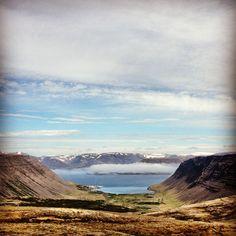 The view over Bíldudalur, Westfjords