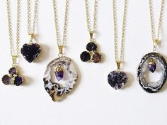 """""""Mi piace"""": 498, commenti: 13 - Kloica Accessories (@kloica) su Instagram: """"A few of many amethyst crystal necklaces- all on sale for the holidays !! """""""