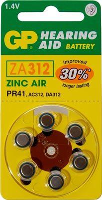 Blister 6 pilas audio  GP ZA312-B6 #ofertas #regalos #regalar #tienda #madrid #españa
