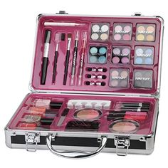 Ivation Professional Vanity Case Cosmetic Make Up Ivation Beauty Box Gift Set 57 Piece -- Find out more about the great product at the image link. Makeup Kit For Kids, Kids Makeup, Makeup Box, Makeup Storage, Cute Makeup, Makeup Case, Makeup Organization, Justice Makeup, Unicorn Fashion