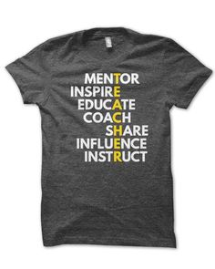 I think this would be a great t-shirt to wear on days that are casual wear. As well as inspiring the teacher. It would make a great teacher outfit!