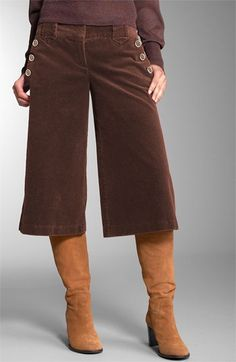 corduroy gauchos, my mom made me wear these in the 80's