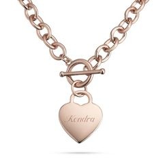 Classic Padlock Heart Toggle Necklaces