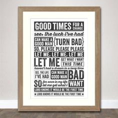 The Smiths Lyrics, Please Let Me Get What I Want - Typographic Art Print