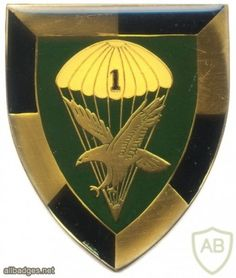 SOUTH AFRICA 44 Para Bde, 1 Parachute Battalion arm flash, type I , left Type I, Army & Navy, Special Forces, Beret, South Africa, Badge, Arms, Berets, Badges