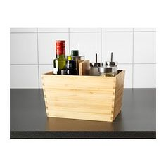 IKEA - VARIERA, Box with handle, Flexible storage that makes it easy to see and reach your groceries and other items in an open drawer.