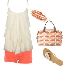 A fashion look from July 2012 featuring Full Tilt tops, MOTHER DENIM shorts and Oasis flip flops. Browse and shop related looks.