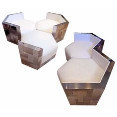 Paul Evans Cityscape Hexagonal Chairs | From a unique collection of antique and modern club chairs at http://www.1stdibs.com/furniture/seating/club-chairs/