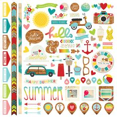 Simple Stories - Good Day Sunshine Collection - 12 x 12 Cardstock Stickers - Fundamentals at Scrapbook.com